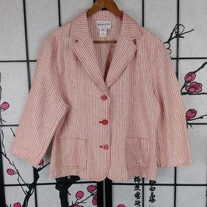 Vtg Pendleton Candy Stripe Jacket Striped Blazer